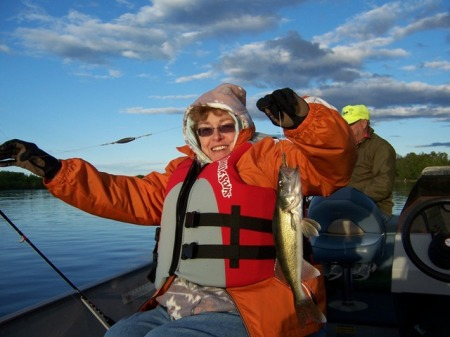Janice with walleye