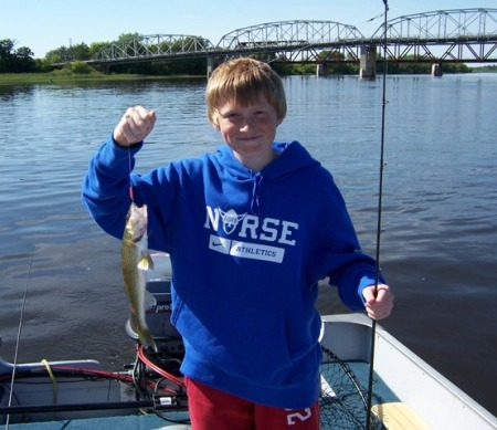 Cameron with walleye