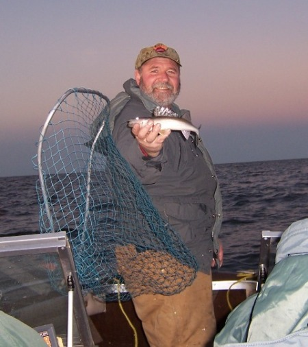 Tom with a small sauger web size