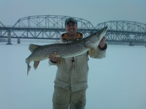 Nick with 40 plus pike