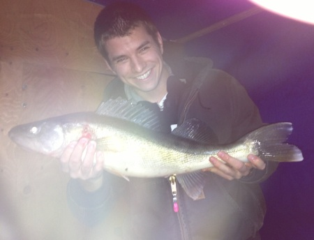 Nathan with 27 inch walleye
