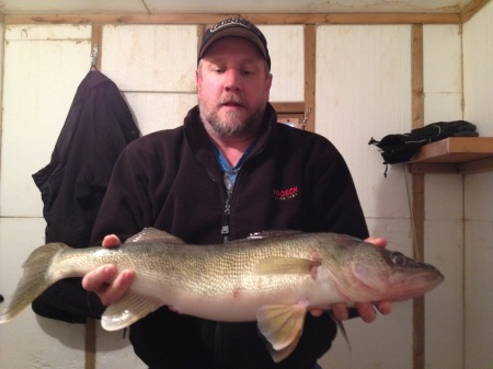 Jim Debus  twnety seven and one half inch walleye
