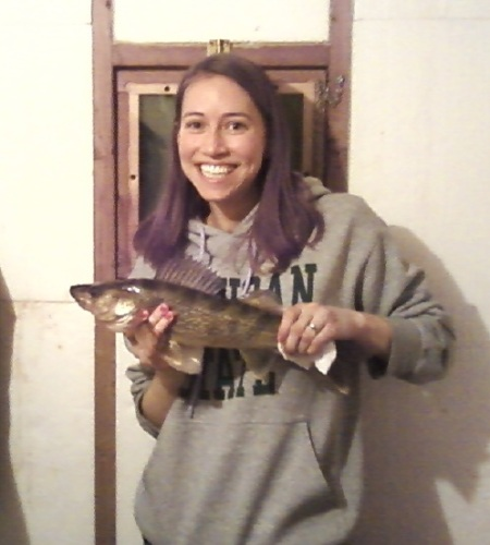 Sara with 18 inch walleye