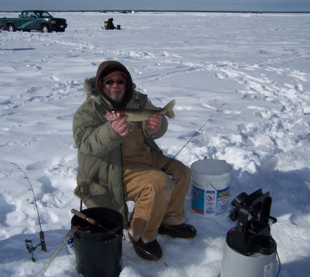 Mick with a walleye