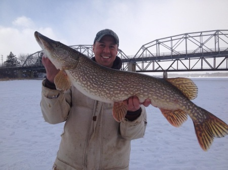 Nick with 37 inch pike