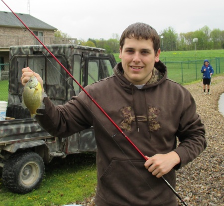 Connor with a Bluegill
