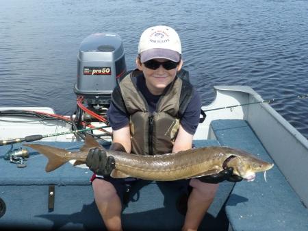 Scott with 36 inch sturgeon