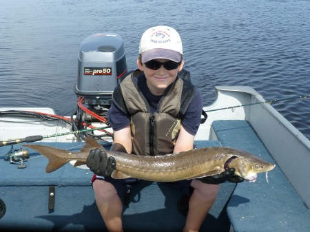 Scott with 36 inch sturgeon