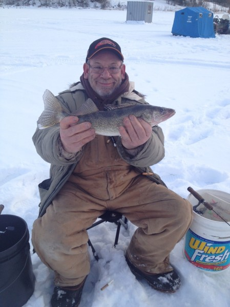 Mick with walleye