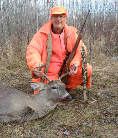 Arvid with 8 point buck