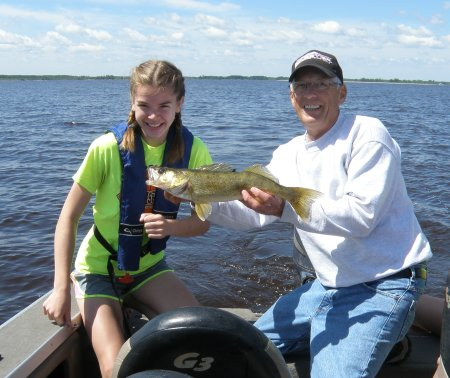 Erin with Walleye #