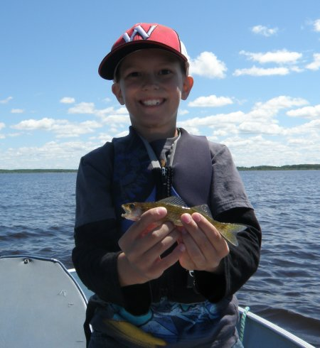 Jadon with little walleye#