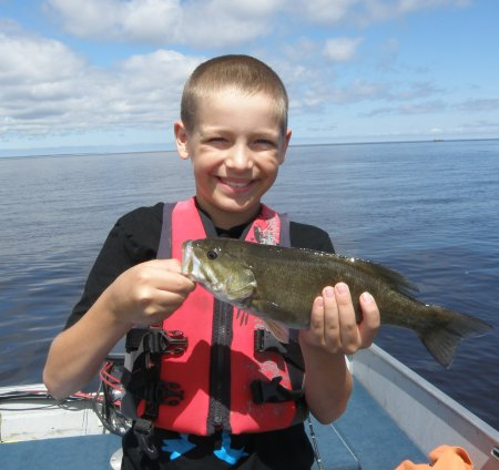 Justin with smallmouth#