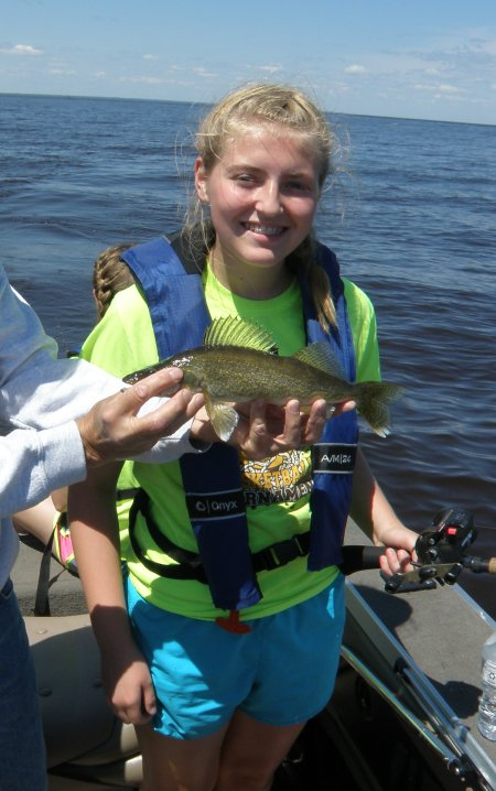 Rachel with Walleye #