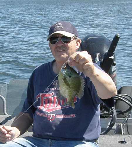 Terry with Gull Lake Bluegill