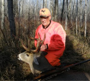 Arvid with 8 point buck #