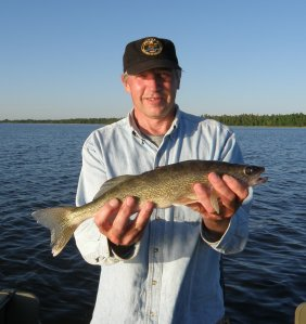 Jeff with Red Lake Walleye